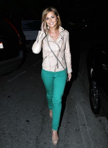 Popping Color With Bright Skinny Jeans